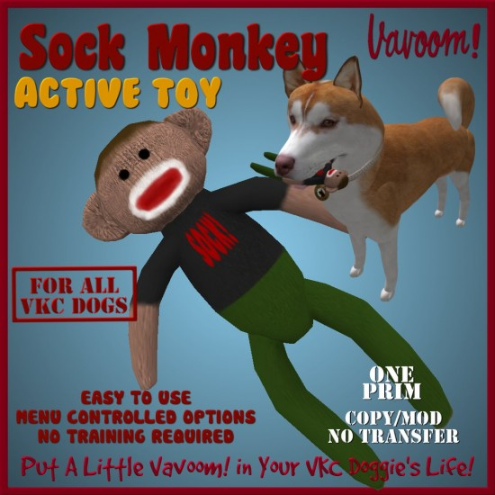 Vavoom! One Prim Sock Monkey Active Toy
