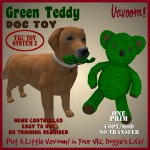 Vavoom! Green Teddy Dog Toy Advert
