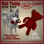 Vavoom! Red Teddy Dog Toy Advert