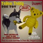 Vavoom! Yellow Teddy Dog Toy Advert