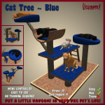 Vavoom Cat Tree Blue Advert