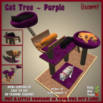Vavoom Cat Tree Purple Advert