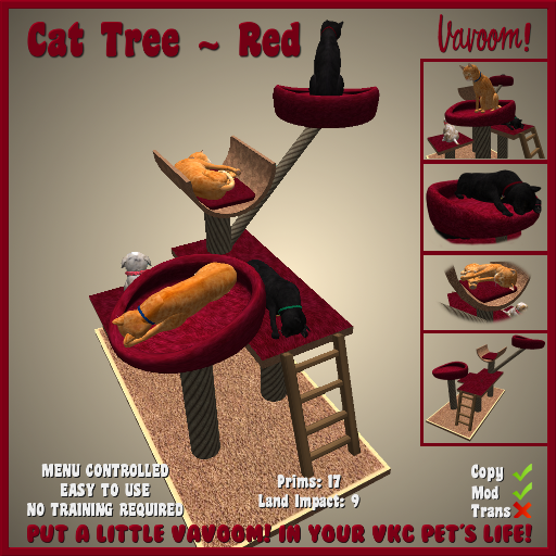 Vavoom Cat Tree Red Advert