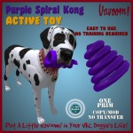Spiral Kong Purple Active Toy advert