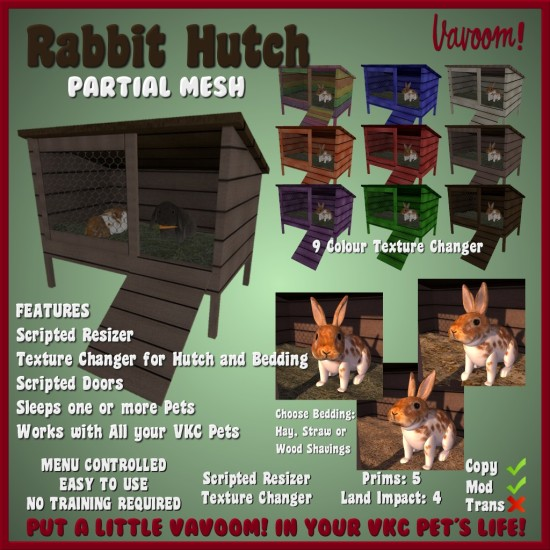 vavoom rabbit hutch Info PIC